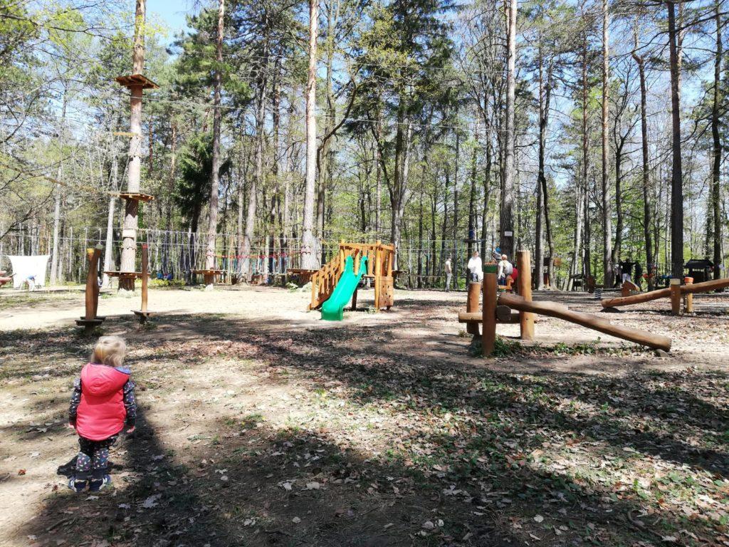 Lanové centrum v lesoparku Brezina v Trenčíne